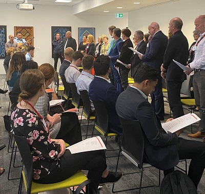 Agency managers, the GHSL and MPIs Kapa Haka group welcome the 2019/20 Health and Safety Summer interns.